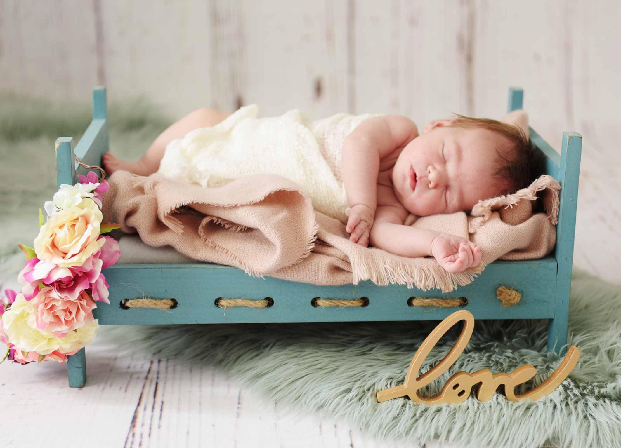 Babybettchen für Babybilder