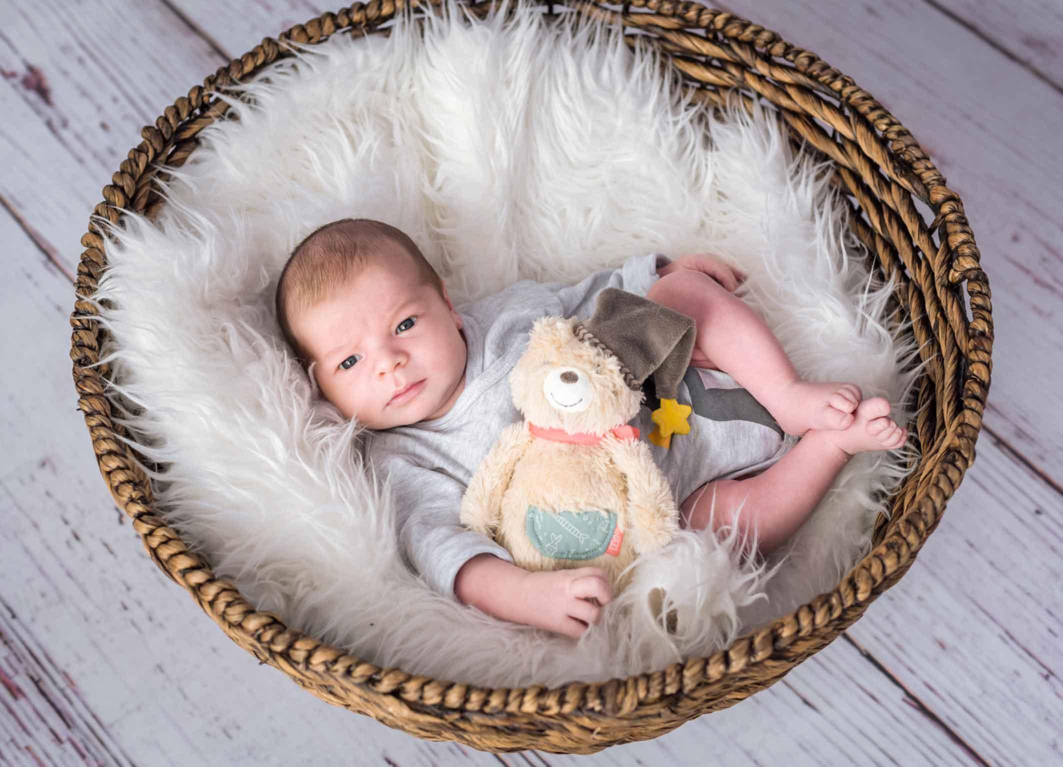 Körbchen für Neugeborene