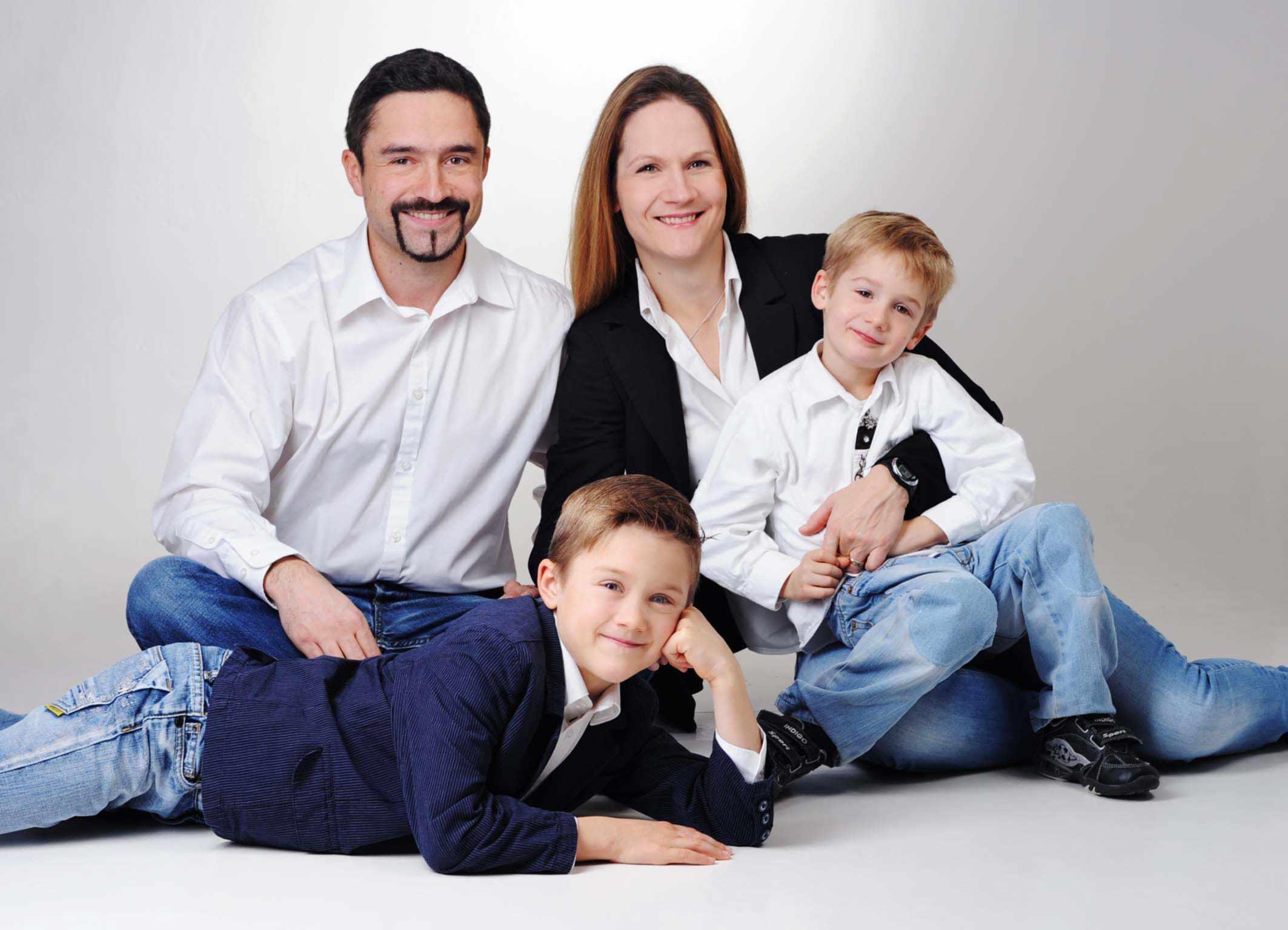 Familienbilder im Fotostudio Trudering